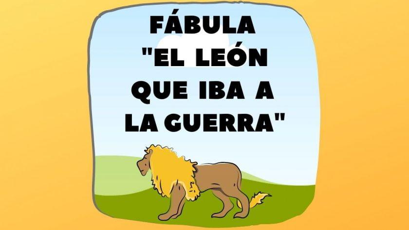 Fábula El león que iba a la guerra
