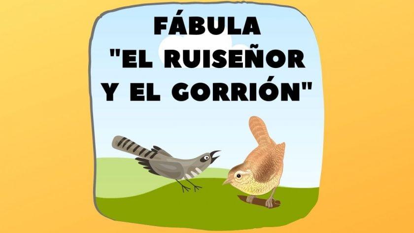 Fábula el Ruiseñor y el Gorrión