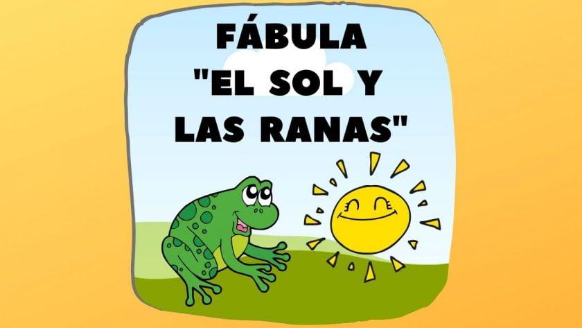 Fábula El sol y las ranas